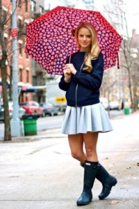 short skirt with umbrella fashion trends